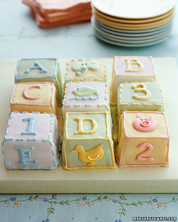 Ideas for baby shower cakes for Alphabet blocks cake decoration