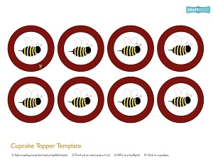 free baby shower printable bee kit