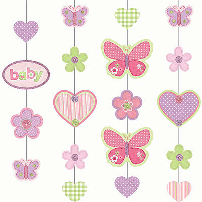 hanging butterfly decor from carter s baby shower collection