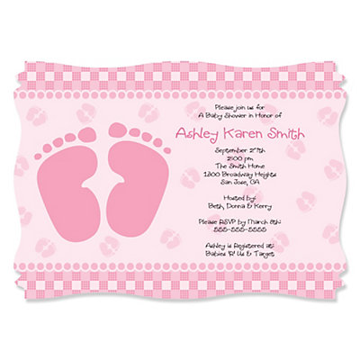 Baby Shower Footprint Invitation
