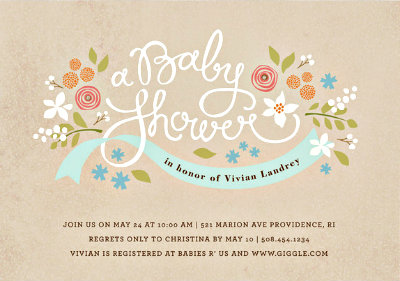 invitation wording, Baby shower invitations