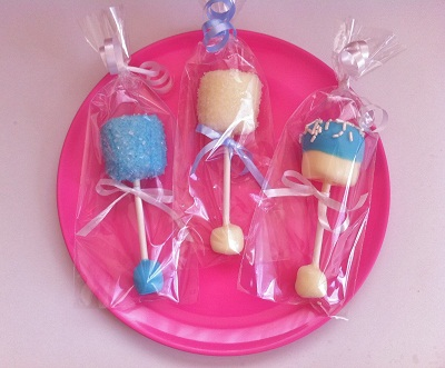 make these easy and adorable marshmallow baby rattles from