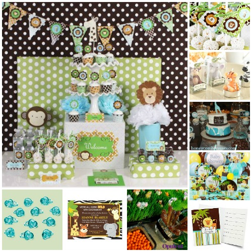 its a boy jungle baby shower baby shower theme ideas
