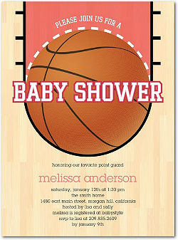 baby shower sports theme, Baby shower invitations