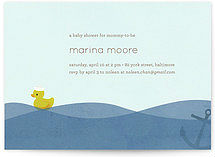 rubber ducky baby shower invites