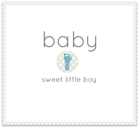 baby shower footprint invitation blue