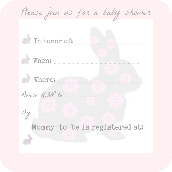 free baby shower invitation for girl