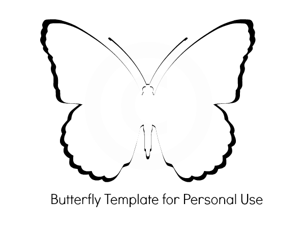 Butterfly baby shower for Butterfly template free