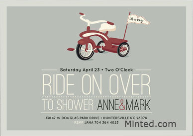 baby shower invite minted