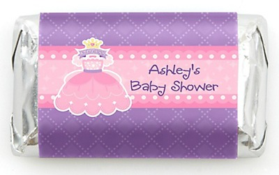 princess baby shower ideas chocolate favors